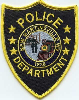 NEW MARTINSVILLE WEST VIRGINIA WV Train POLICE PATCH