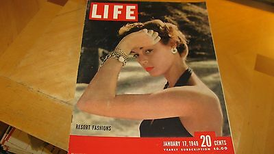 1949 Life Magazine January 17  Resort Fashions  High Grade Lowest Price On Ebay