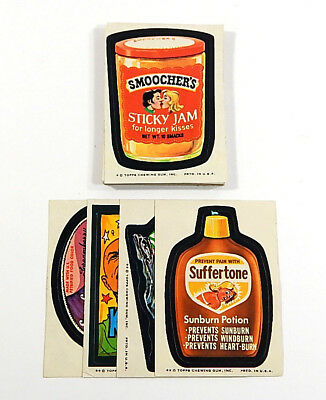 1974 Topps Wacky Packages 8th Series Complete Sticker Set (30/30) Vg to Ex/Mt