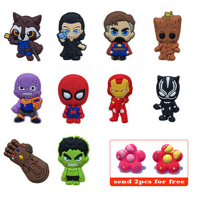 10PCS/Lot Avengers Infinity War Shoe Charms Accessories Christmas Gifts