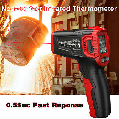 Pro Non-Contact Digital LCD IR Infrared Thermometer Laser Temperature Test Meter