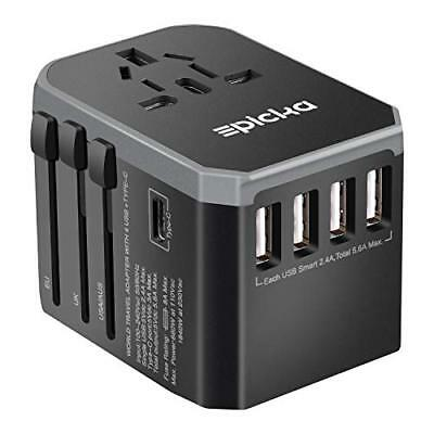 EPICKA Universal Travel Adapter One Worldwide International Wall Charger AC Plug