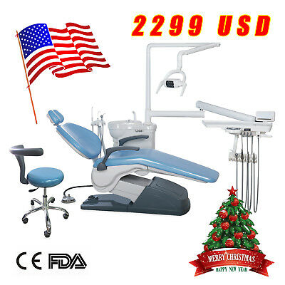 USA Dental Chair&Stool Computer Controlled 110V hard Leather ship to Your Door