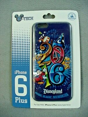 Disney Parks 2016 Mickey Mouse Disneyland Blue Cell Phone Case iPhone 6 Plus NEW