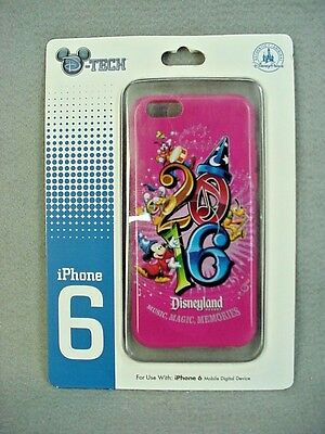 Disney Parks 2016 Mickey Mouse Disneyland Pink Cell Phone Case iPhone 6 NEW