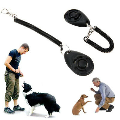 Training CLICKER Dog Trainer Puppy Command & Trick Training Method Wrist Strap