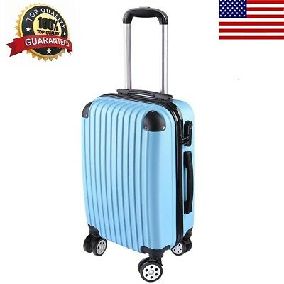 """20"""" Carry On Luggage Travel Bag Trolley Business Suitcase ABS 360° Rolling Wheel"""