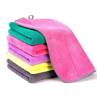 Microfiber Dishcloth Kitchen Washing Cleaning Towel Dish Cloth Rags Wipe Faddish