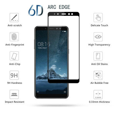6D 9H Curved Temper Glass Screen Protector for Samsung Galaxy J8 J6 J4 Plus 2018