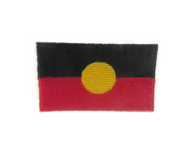 Aboriginal Flag  –  Indigenous Australians – Embroidered Iron on Patch