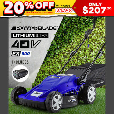 POWERBLADE Cordless Lawn Mower Electric Lawnmower Lithium Battery Powered 40V