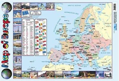 Europe Map Poster 40x60cm