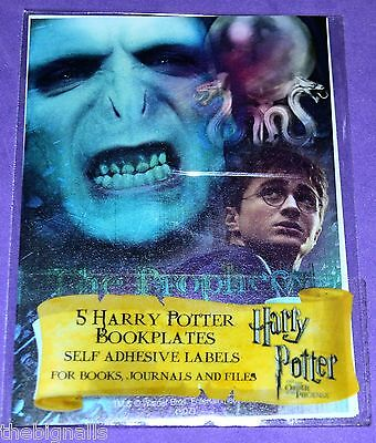 5 Harry Potter THE PROPHECY  Bookplates new sealed pack