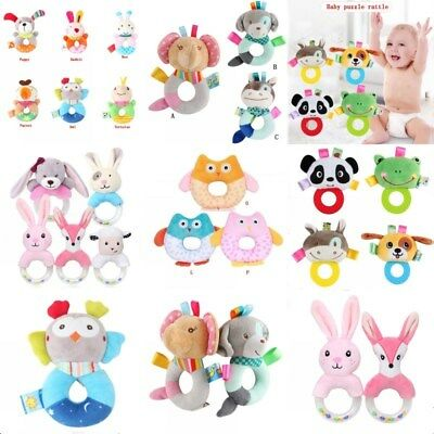 Kid Baby Pram Stroller Handbell Soft Toy Hand Shaking Bell Rattle Stuffed Doll
