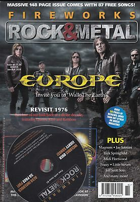 Fireworks rock mag issue 81 - Europe cover + Magnum,Joe Satriani etc
