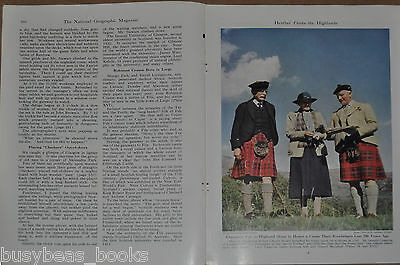 1946 magazine article about SCOTLAND, people, history, post WWII daily life etc