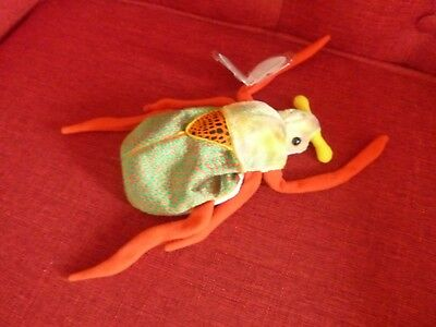 fd2813d9aa6 SCURRY BEETLE TY Beanie Baby 6.5 inches.Plush stuffed collectible ...