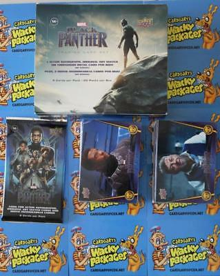 2018 UD Marvel Black Panther COMPLETE BASE SET OF 90 CARDS WITH EMPTY BOX