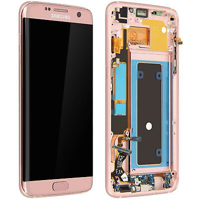 LCD replacement part with touchscreen for Samsung Galaxy S7 Edge - Pink
