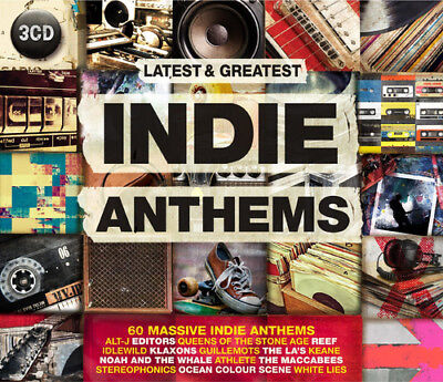 Various Artists : Indie Anthems CD 3 discs (2015) ***NEW***