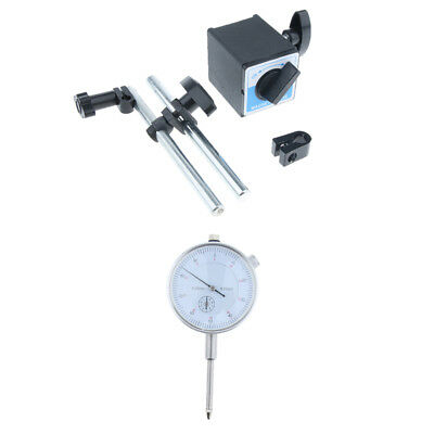 0-25mm Test Precision Dial Indicator Gauge with Mag Base Set Resolution 0.01