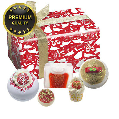Bomb Cosmetics Christmas Carol Handmade Wrapped Gift Pack [Contains 5 Pieces]