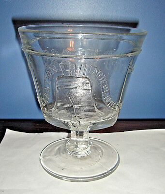 1876 Philadelphia Centennial World's Fair EAPG PEDESTAL PRESSED GLASS COMPOTE