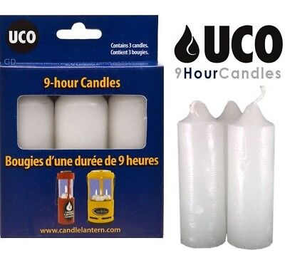 1 Set of 3 UCO 9+ Hour Candles for Candlelier Original Candle Lanterns Burns