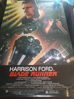 1982 BLADE RUNNER ROLLED ORIGINAL MOVIE POSTER 1SH RARE NSS # NM Ford Young