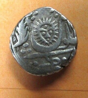 1771 -1881 Indore India Thick Silver Rupee Holkar Dynasty   Nice One Look