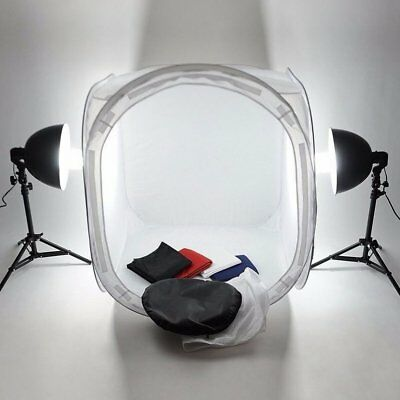 60cm Portable Photography Light Tent Foldable Photo Soft Box With 4 Backdrops LK