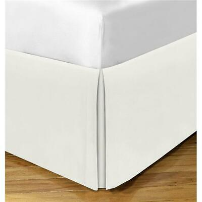 Todays Home Cotton Rich 200TC Tailored 14 in. Bed Skirt Ivory - Twin XL