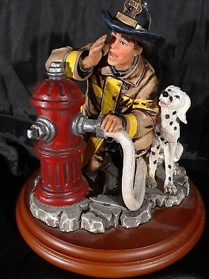 """Fireman Figurine, Red Hats Of Courage Beyond The Call, """"Good To Go"""""""