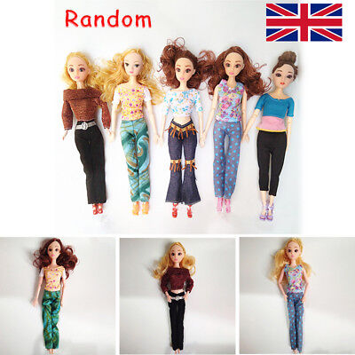 5 pcs TOPS + 5 PANTS Fashion Dress Summer Clothes BARBIE DOLL LOVELY Gift Girl Y