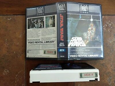 Star Wars 1982 Video Rental Library BETA w/ Matching Serial Numbers clamshell