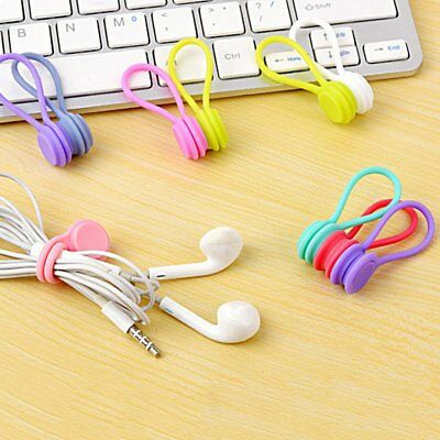 3pcs Multifunction Magnetic Earphone Cord Winder Cable Holder Organizer Clips LK