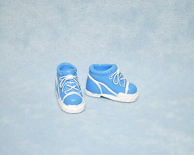 ATHLETIC Medium Blue Faux Lace Up Tennis Shoes Genuine BARBIE Shoes