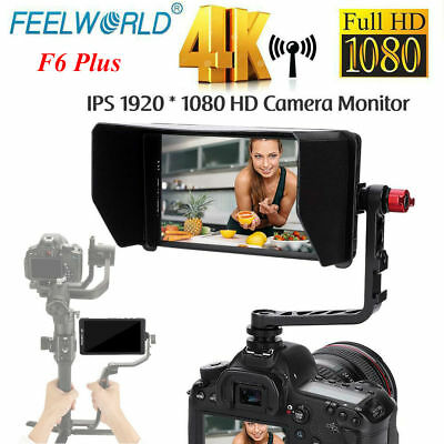 "Feelworld F6 PLUS 5.7"" 4K HDMI IPS Screen 1080P Full HD Camera Monitor +Sunshade"
