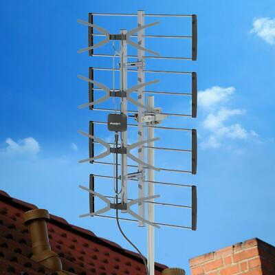85Mile HDTV 1080P Outdoor Amplified TV Antenna UHF for Digital Signals 10m Cable