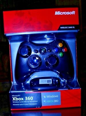 Official Microsoft Xbox 360 Wireless Controller for Windows PC USB Black 1403;10