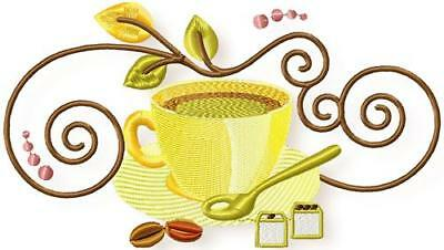 Cuppa 10 Machine Embroidery Designs Cd 2 Sizes Included