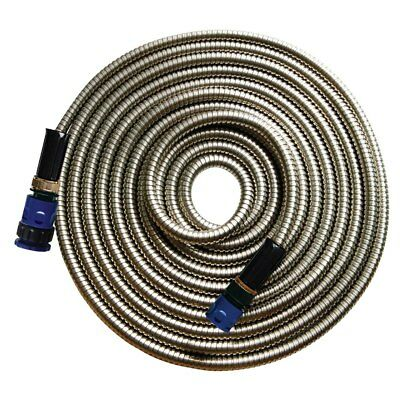 Expandable Stainless Steel Metallic Garden Hose Car Wash Quality Flexible 7.5M