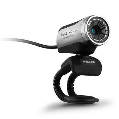 AUSDOM AW615 Webcam 1920x1080P Full HD 12MP USB 3.0 Noise-cancelling Web Cam...