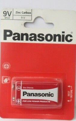 9v Panasonic Heavy Duty Genuine Block Zinc-Carbon Battery 6F22