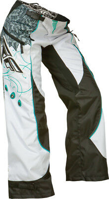 Fly Racing Kinetic Womens Over The Boot Pants Teal/White 22 P368-63401