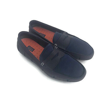 f34571c59f4 Swims Penny Loafer Black Driving Moccasin Loafer Men s Navy Water Shoes Size  10