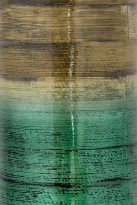 Heather Ann Creations Noor 24 in. Spun Bamboo Stovepipe Vase - Teal & Natural