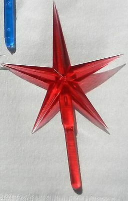 Red Large Plastic Star For Ceramic Christmas Trees
