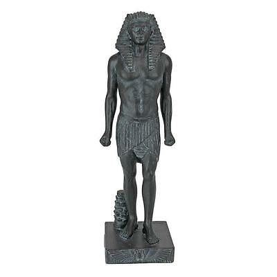Egyptian God Osiris Replica Statue Verdigris Metal Finish Sculpture NEW