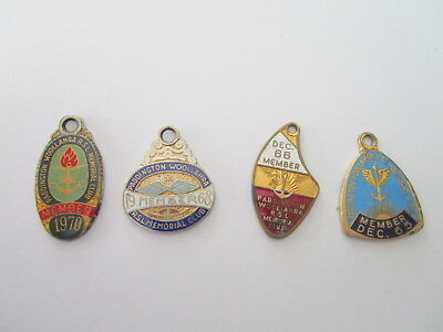 PADDINGTON WOOLLAHRA RSL CLUB BADGES x 4